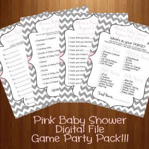 Baby Shower Games 4 Pack Blue Or Pi..