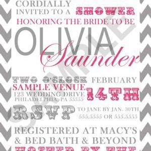 Modern Bridal Shower Invitation (Di..