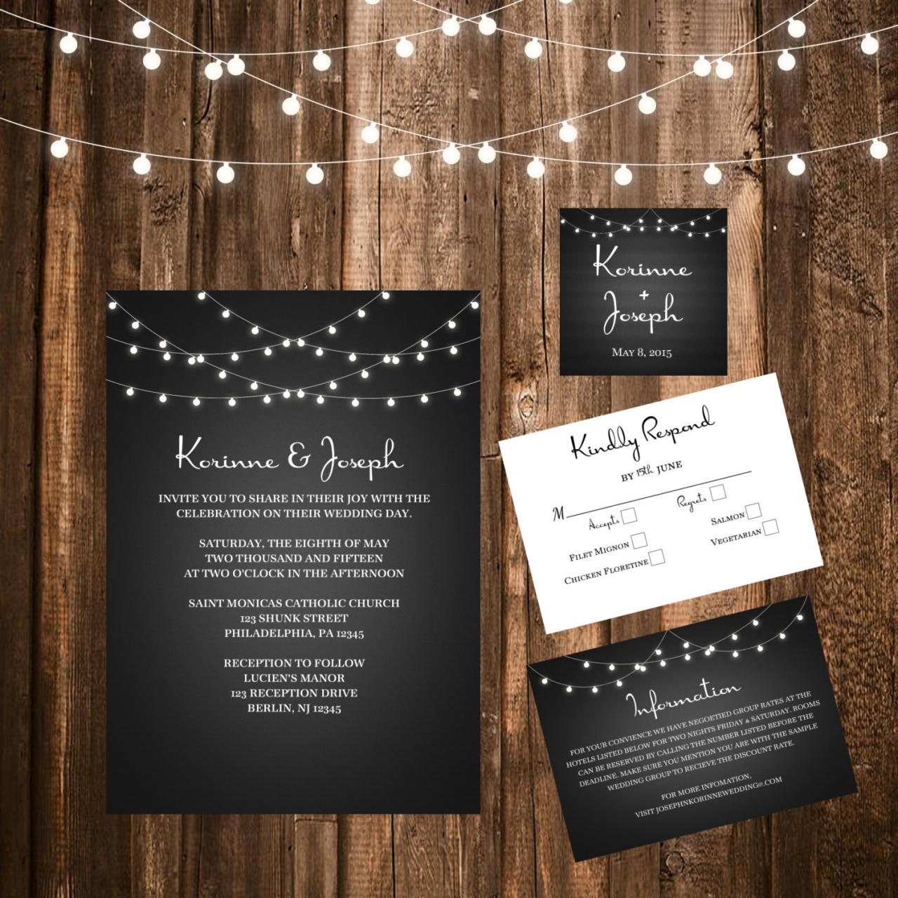 Gallery Minimalist Wedding Invitations: Printable Wedding Invitation