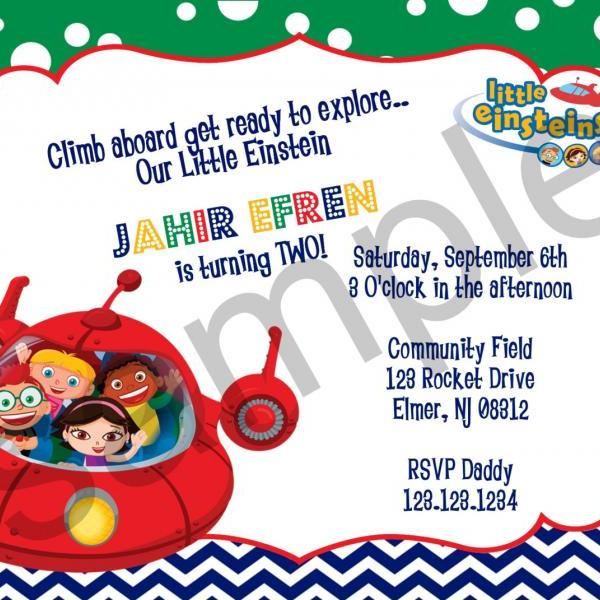 Little Einsteins Birthday Invitation (Digital File)
